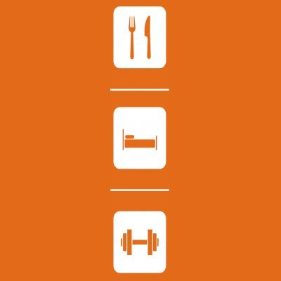 Sudadera con capucha de mujer Eat Sleep Fitness Training by Shirtcity Naranja