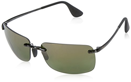 Ray-Ban Men's RB4255 Chromance Lens Navigator Sunglasses, Grey Frame/Green Mirror Lens - Ray Polarized Ban Chromance