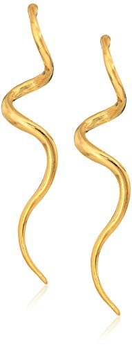 Kenneth Jay Lane Polished Gold-Tone Swirl Drop (Gold Tone Swirl)
