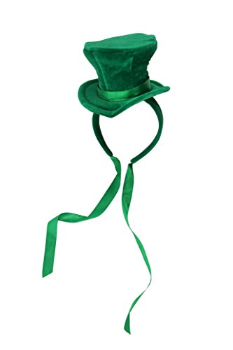 [elope Green Cocktail Top Hat Headband] (Mini Top Hats)