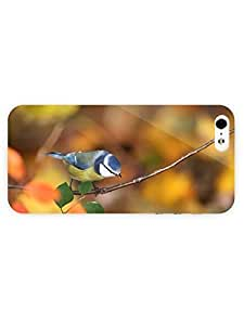 3d Full Wrap Case For Sam Sung Galaxy S5 Cover Animal Blue And Yellow Bird