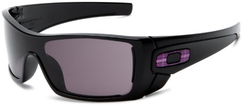 Oakley Men's Batwolf Rectangular Sunglasses,Polished Black Frame/Warm Grey Lens,one - Oakley Usa