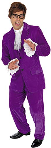 Mens 60s Movie Gigolo Costume Adults Man of Mystery Purple Suit Outfit - http://coolthings.us