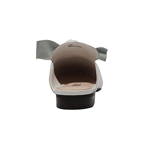 Pic/pay Dakota   Pic / Betale Dakota   Kvinders Bow Adorned Slip-on Comfortable Loafer Mule Leather Suede (new Spring) Hvid Leather Kvinders Bue Prydet Slip-on Komfortabel Dagdriver Muldyr Læder, Ruskind (nyt Forår) Hvidt Læder