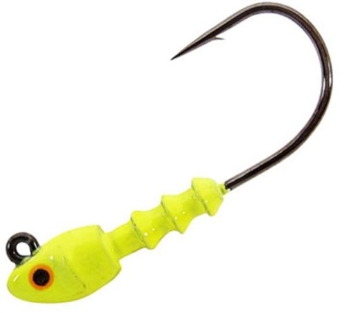 Pradco Bomber Saltwater Grade Shad-Head Jig 1/8 oz Chartreuse