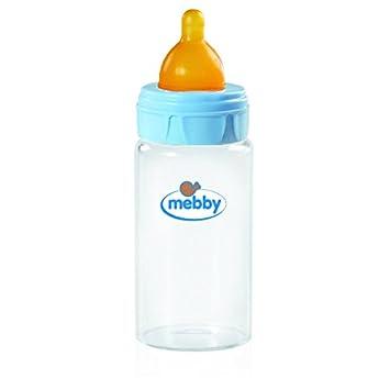 rosa 180 ml Mebby 92640 Babyflasche aus Glas mit Anti-Kolik-Ventil und Sauger aus Latex