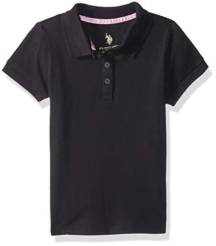 U.S. Polo Assn. Girls Short Sleeve Stretch Pique Shirt
