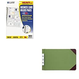 KITCLI61217WLJ27831 - Value Kit - Wilson Jones Canvas Sectional Post Binder (WLJ27831) and C-line Business Card Binder Pages (CLI61217)