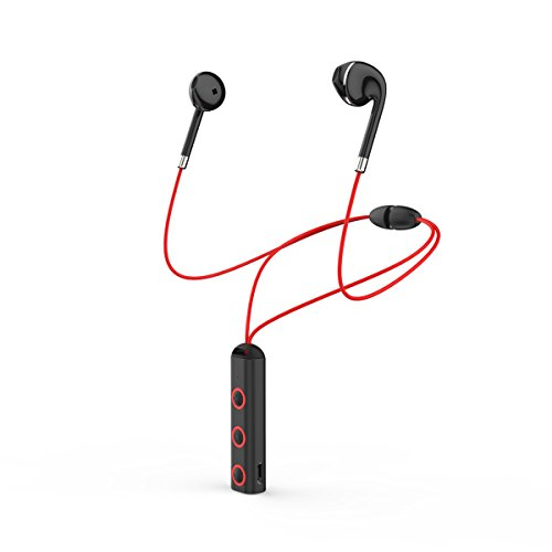 Wireless Bluetooth Earphone Cordless Magnetic Noise Canceling Sports Stereo Headphone with Long Life Extended Battery, Support Music Voice Control, Calling Back/Hands Free/ LED Power Display by BT313