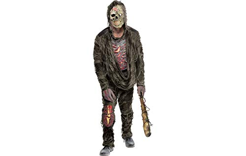 Amscan 847748 Standard Adult Creepy Zombie Costume, Black, One Size ()