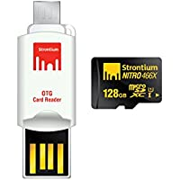 Strontium Nitro 128GB MicroSDXC UHS-I Memory Card with OTG Card Reader Up to 70MB/s (SRN128GTFU1T)