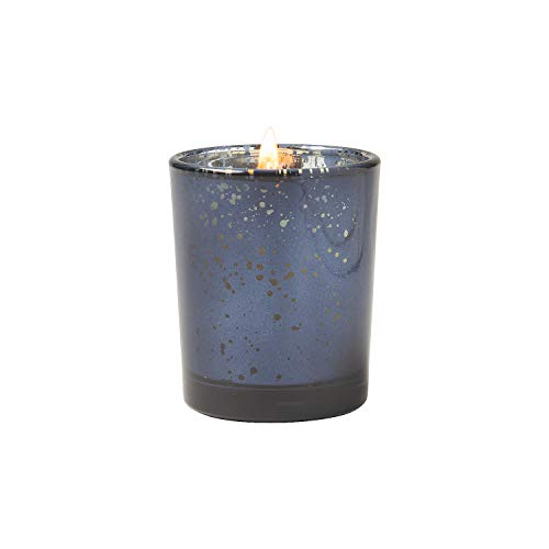 Fun Express - Navy Mercury Glass Votive Holders for Wedding - Home Decor - Candles and Candle Accessories - Candle Holders & Accessories - Wedding - 12 Pieces - Oriental Glass Candle Holder