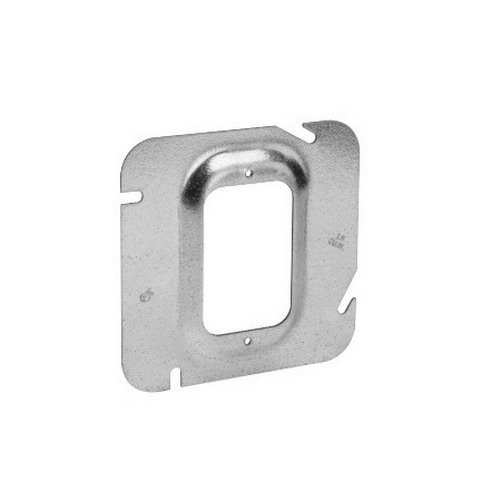 Crouse-Hinds TP531 Steel 1-Gang Outlet Box Cover 4-11/16 Inch x 4-11/16 Inch x 2 Inch