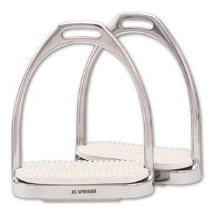 Herm Sprenger Fillis Stirrup Irons - White 4 3/4