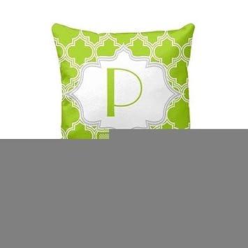 Hacer tu propia manta funda de almohada verde, blanco ...