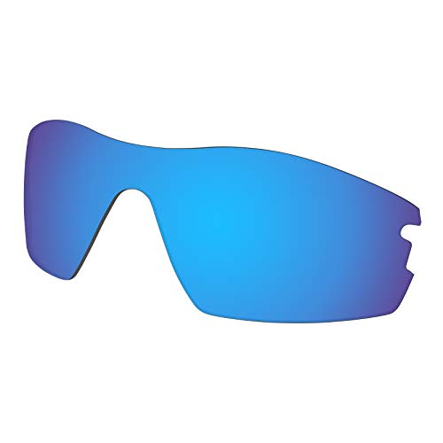 Predrox Blue Mirror Radar Pitch Lenses Replacement for Oakley Sunglass ()