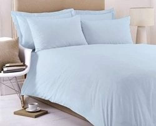 SUNSHINE COMFORTS/® 5 HOTEL QUALITY EGYPTIAN COTTON 200 THREAD COUNT EXTRA DEEP 9 FITTED SHEET SUPER KING SKY BLUE