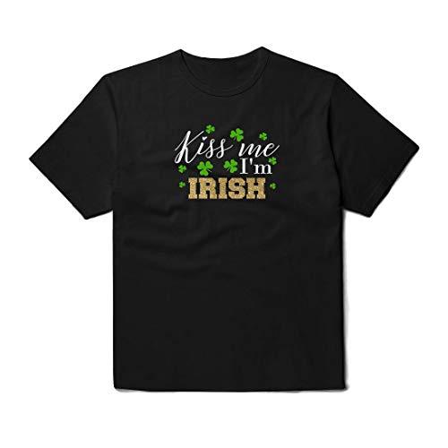 Kiss Me I'm Irish T-Shirt Unisex Funny Outfit Black White Grey Colored Clothing Cotton Shirt For Women Men Kids PA1385