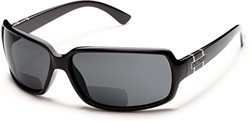 Suncloud Poptown Polarized Bi-Focal Reading Sunglasses in Black with Grey Lens +2.75 by Suncloud