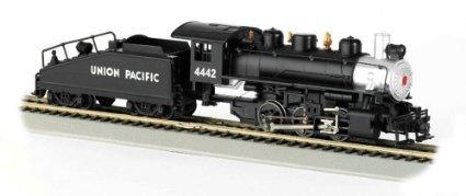 Bachmann 50603 H0 Steam USRA 0-6-0 w/Slope-Back Tender & Smoke - Standard DC -- Union Pacific #4442 (black, silver) by Bachmann Europe (Union Pacific Tender)