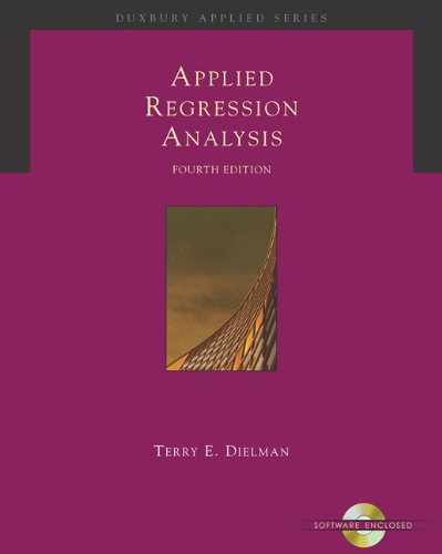 Applied Regression Analysis W/Cd