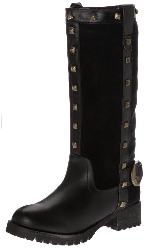 Lollipops Boots Femme black Noir Bottines Patchwork High qrZIrE