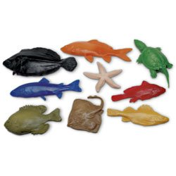 Nasco Life/form Fish Replica Rubber Stamp for Printmaking - Set of 9 - Elementary Education Education Program - 9714479 by Life/form