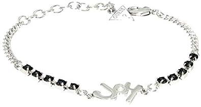 de54cb0f1900 Guess – Bracelet Femme – Acier Inoxydable brossé Cristal Argent 18 cm –  ubb61001 S