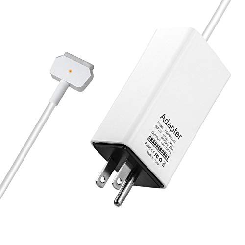 Wakeach Replacement Charger for 85W Macbook Pro 15 inch Magnetic 2 T-tip Retina(Made Mid 2012-Mid 2015) Power Adapter mbp A1398 A1424 Charger Portable Wall Travel Charger
