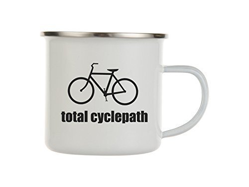 Total Cyclepath Enamel Camping Mug For Cyclists And Bike Fans