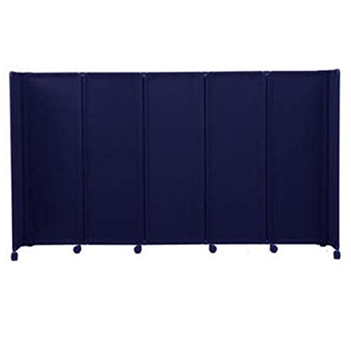 Portable Furniture Partition (Versare MP10 Mobile Accordion Room Divider 360 - 10 Feet Wide by 48 inches High - Blue)
