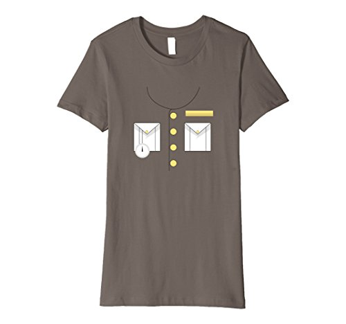 Womens Boat Captain Uniform Costume T-Shirt | Halloween Shirt Small (Love Boat Halloween Costumes)