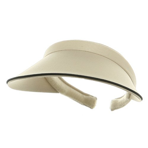MG Women's Piping Clip On Visor Cotton Twill Long Visor