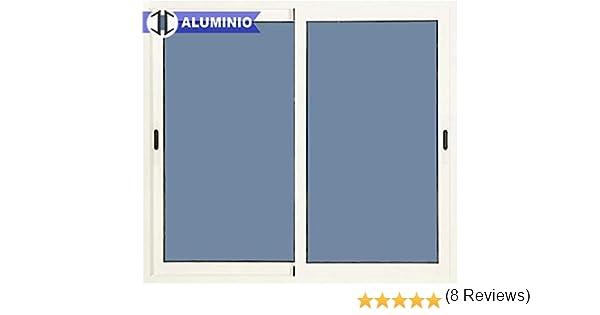 Ventana Aluminio Corredera 1000 ancho x 1000 alto 2 hojas: Amazon ...