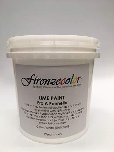 Firenzecolor Authentic Italian Lime Whitewash Paint Era a Pennello Quart 1kg