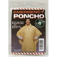 "PONCHO-EMERGENCY 50""X80"" by BOULDER CREEK MfrPartNo 60010CM"
