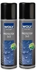 2 Woly 3x3 Suede/Leather Handbag Shoes Protector Waterproof Spray Neutral...