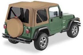 1997-2002 Jeep Wrangler Bestop 51180-33 Dark Tan Replace-a-Top Soft Top Tinted Windows-No door skins included-No frame hardware included