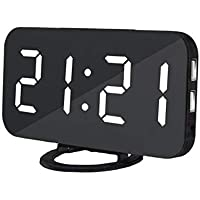 LED Digital Alarm Clock With USB Port For Phone Charger Touch-Activited Snooze Desktop Office Table Hotel Clocks