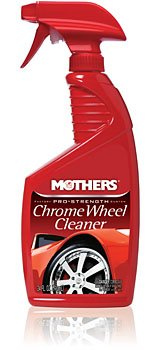 Wheels Chrome Wire (Mothers 05824 Pro-Strength Chrome Wheel Cleaner - 24 oz)