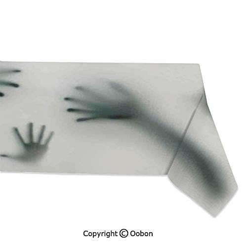 Space Decorations Tablecloth, Frightening Hands Arms Ghost Shadow Alien Spirit Touch Mist Strangers Work of Art, Rectangular Table Cover for Dining Room Kitchen, W60xL104 -
