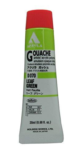 Holbein Acryla Gouache Artists Acrylic Polymer Emulsion, 20ml Leaf Green (D070)