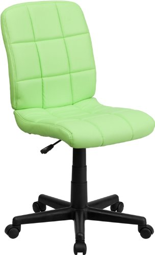 Flash Furniture Mid-Back Quilted Vinyl Task Chair, Green