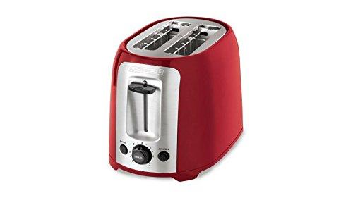 2-Slice Multi-Functional Toaster Bagel Red