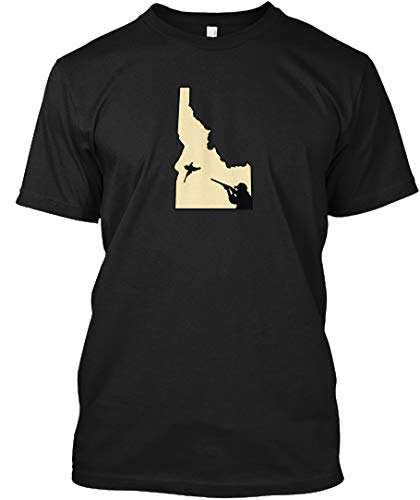 Idaho Hunts S - Black Tshirt - Hanes Tagless Tee (Best Pheasant Hunting In Idaho)