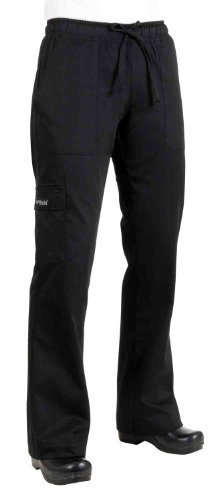 Black Womens Chef Pants (Chef Works Women's Cargo Chef Pant (CPWO), Black, S)