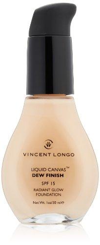 VINCENT LONGO Liquid Canvas Dew Finish Foundation SPF 15, Porcelain, 1 oz.