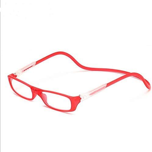 GLTREE Nouvelles lunettes de lecture à aimants réglables Coloré Enhanced Hommes Femmes Suspendus Cou magnétique avant les lunettes presbytes GNS20