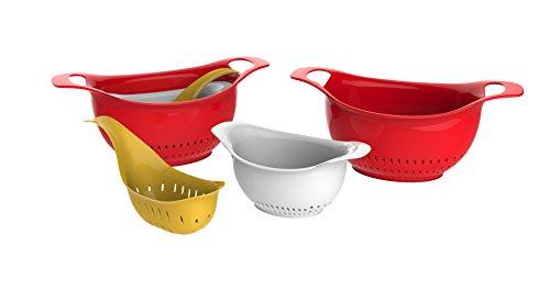 - Good Cook 3-Piece Colander Bowl Set