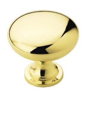 Polished Cabinet Brass - Amerock BP53005-3 Metal Finishes Knob Polished Brass, 1-1/4-Inch Diameter